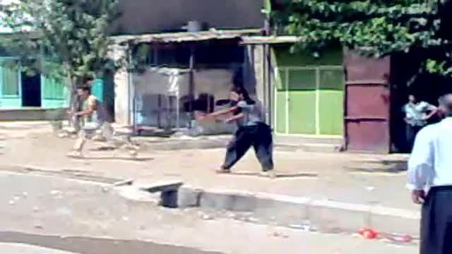 درگیری و قمه کشی در آقاجان کرمانشاه
