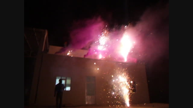 ویدیو جشن آتش بازی جشن انقلاب در اهل