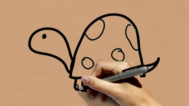 نقاشی کردن لاک پشت در کمتر از 30 ثانیه