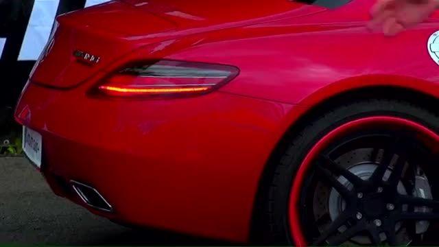 درگ بین( Corvette ZR1 vs SLS AMG vs C63 AMG)