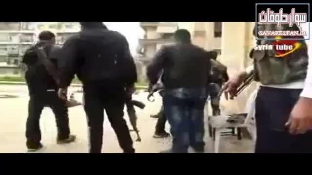 کشته شدن تروریست داعشی توسط تک تیرانداز ارتش سوریه!