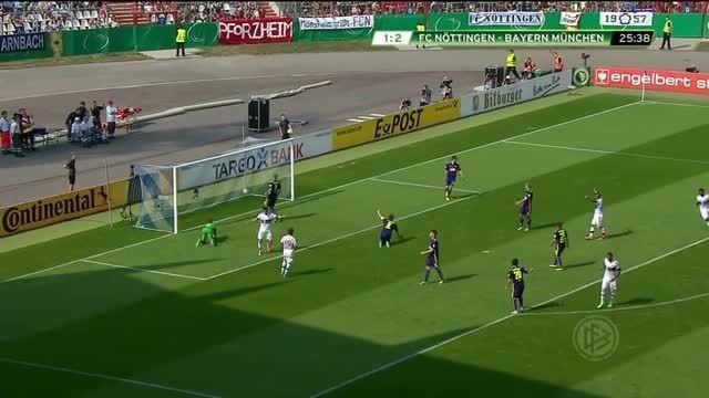 جام حذفی آلمان : بایرن مونیخ 3 - 1 نوتینگن