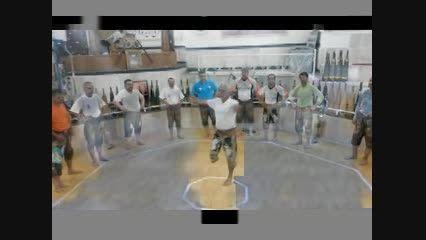 چرخ باستانی توسط جانبازان ورزش باستانی نیشابور