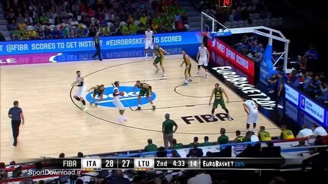 هایلایت مسابقه بسکتبال ایتالیا-لیتوانی قهرمانی اروپا 20