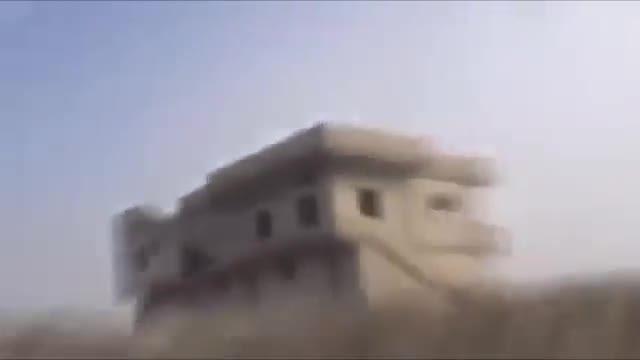 لحظه تیر خوردن یک داعشی