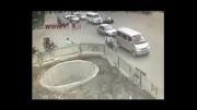 حادثه خنده دار موتور سواری