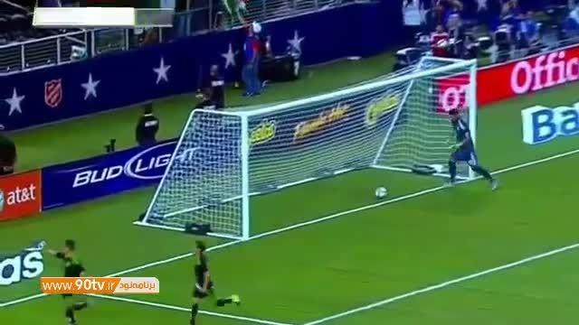گلهای بازی: مکزیک ۲-۲ آرژانتین (گل لایی مسی)