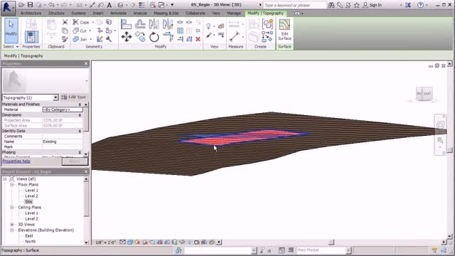 Site Design and Modeling in Revit