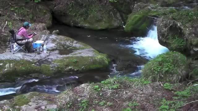 زیباترین کلیپ ماهیگیری در طبیعت زیبای ژآپن