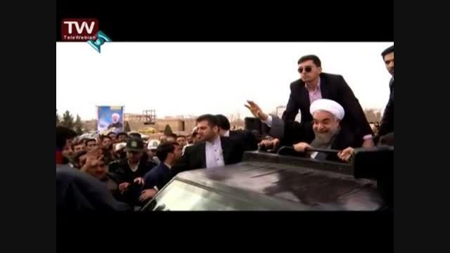 دیدار رئیس جمهور با مردم شهر گرگاب از شبکه یک سیما