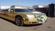ماشین عروس با روکش طلا