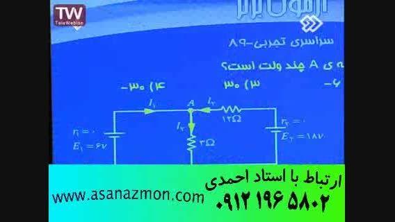 تدریس و حل تست درس فیزیک با مدرس باسابقه کنکور 21