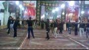زنجیر زنی جوانان درزی در داخل مسجد جامع دانسفهان
