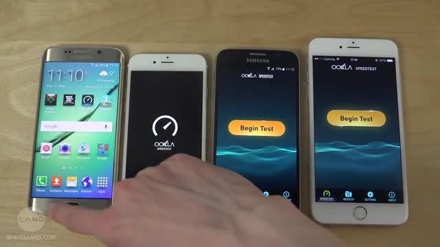 تست سرعت WiFi در گلکسی S6 و S6 Edge و آیفون 6 و 6 پلاس