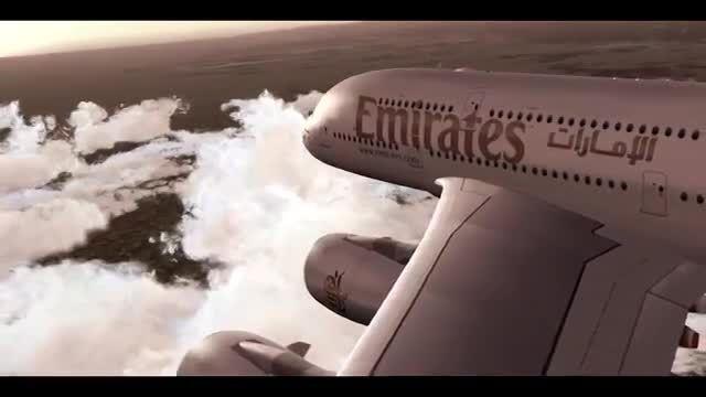 هواپیمای ایرباس A380 در شبیه ساز پرواز FSX