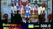 رکورد اسکات جهان بدون لوازم 300 کیلو وزن 93 کیلو