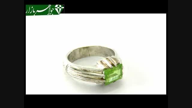 انگشتر زبرجد طرح کلاسیک مردانه رکاب دست ساز- کد 6403