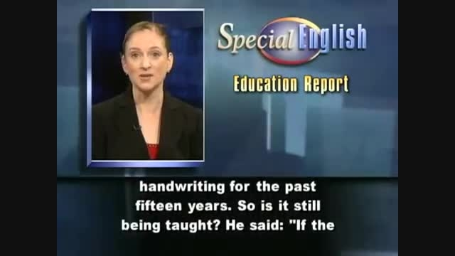 VOA LE - Education Report: The Death of Handwriting
