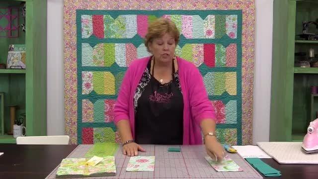 آموزش 3- طرح تکه دوزی خط و نقطه از خانم جینی دوان