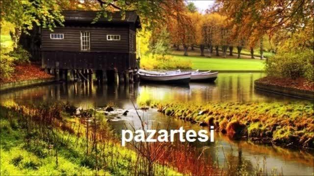 روزهای هفته در زبان ترکی استانبولی