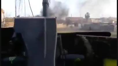 محاصره داعشی ها در یک منزل الانبار توسط حشدالشعبی-سوریه
