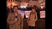 تجمع فعالان ضد اسراییلی در رم ایتالیا