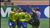 ضربه لئوناردو بازیکن برزیل به تب راموس بازیکن آمریکا جام جهانی 1994