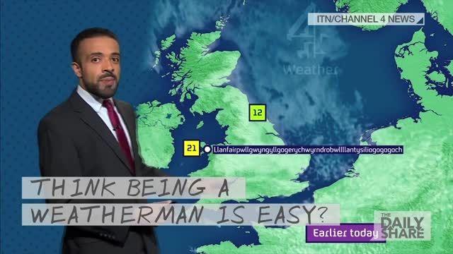 کارشناس هواشناسی و تلفظ جالب اسم یک روستا