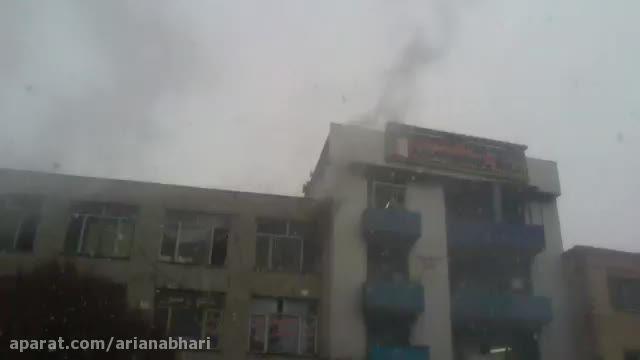 کارگاه کفاشی طعمه حریق شده و در آتش سوخت