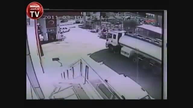 انفجار تانکر حمل مواد نفتی