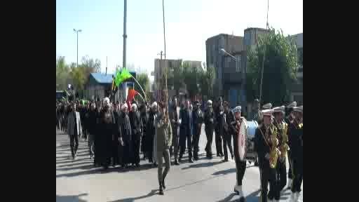 عزاداری خیابانی مردم نیر در سوگ شهادت سالار شهیدان