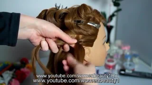 آموزش شینیون مو همراه با گل