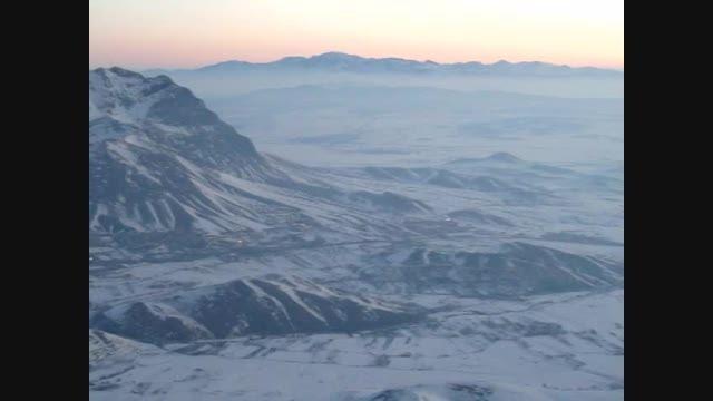 نمای شهر فریدونشهر و کوه های اطراف از خط الرأس کوه تتره