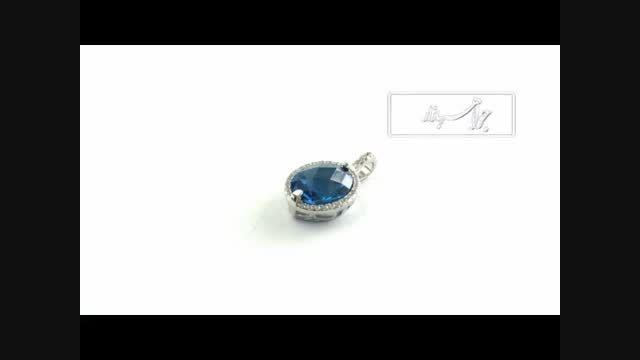 مدال نقره درخشان درشت طرح اقیانوس زنانه - کد 9054