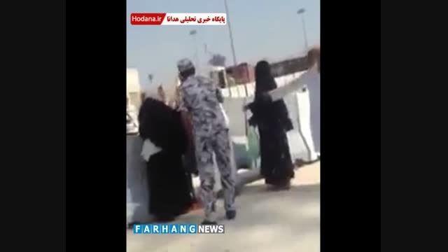 سیلی شرطه سعودی بر گوش یک حاجی