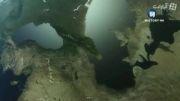 دریای خزر در 14000 سال پیش
