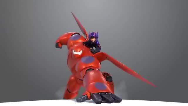 hiro and baymax از انیمیشن big heri 6