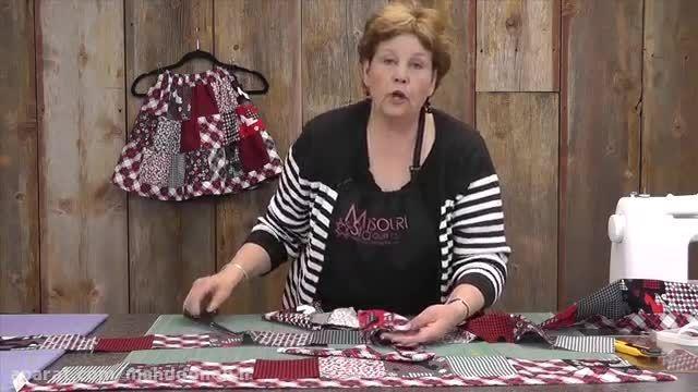 آموزش 12- دوخت دامن چهل تیکه ساده توسط خانم جینی دوان