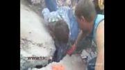 نجات معجزه آسای کودک 7 ساله از زیر توده چندین تنی آوار!