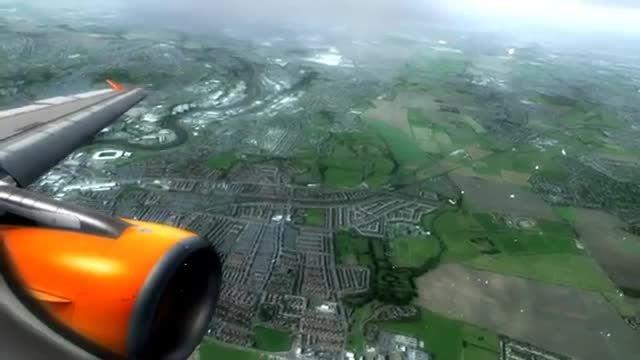 فرود ایرباس 320 در فرودگاه نیوکاسل شبیه ساز الماس