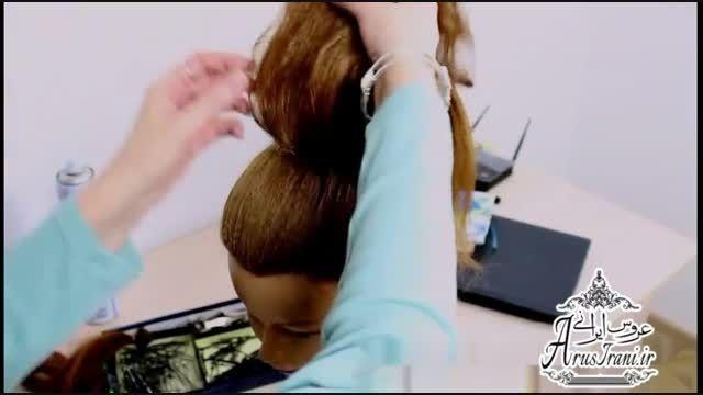 آموزش کامل مدل مو 25 - مدل موی عروس برای موهای بلند