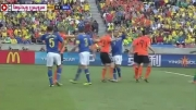 خلاصه بازی هلند ۲-۱ برزیل (جام جهانی ۲۰۱۰)