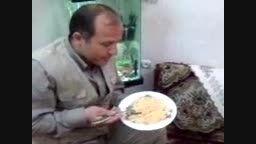 غذا خوردن با کف گیر