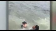 نجات بچه از غرق شدن