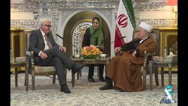 دیدار وزیر امور خارجه آلمان با آیت الله هاشمی رفسنجانی