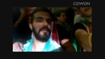 منصور پیرهادی به همرا برادرش در استادیوم بازی پرسپولیس