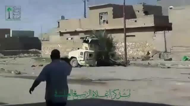 به غنیمت گرفتن یک تانک آبرامز ارتش عراق توسط داعش.
