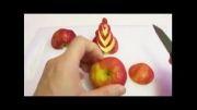 با سیب قو های رنگارنگ درست کن-قشنگ