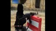 تروریست ها و آموزش شلیک کلاشینکف به کودک 4 ساله سوری