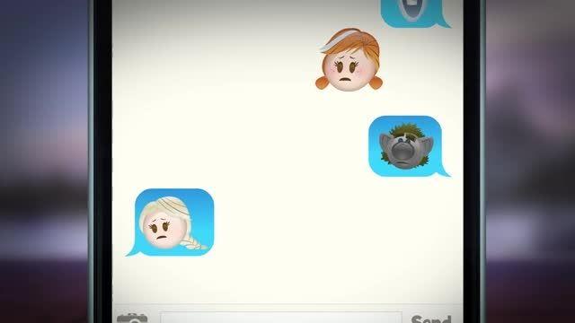 فروزن به روایت شکلک های اموجی (Emoji Frozen)